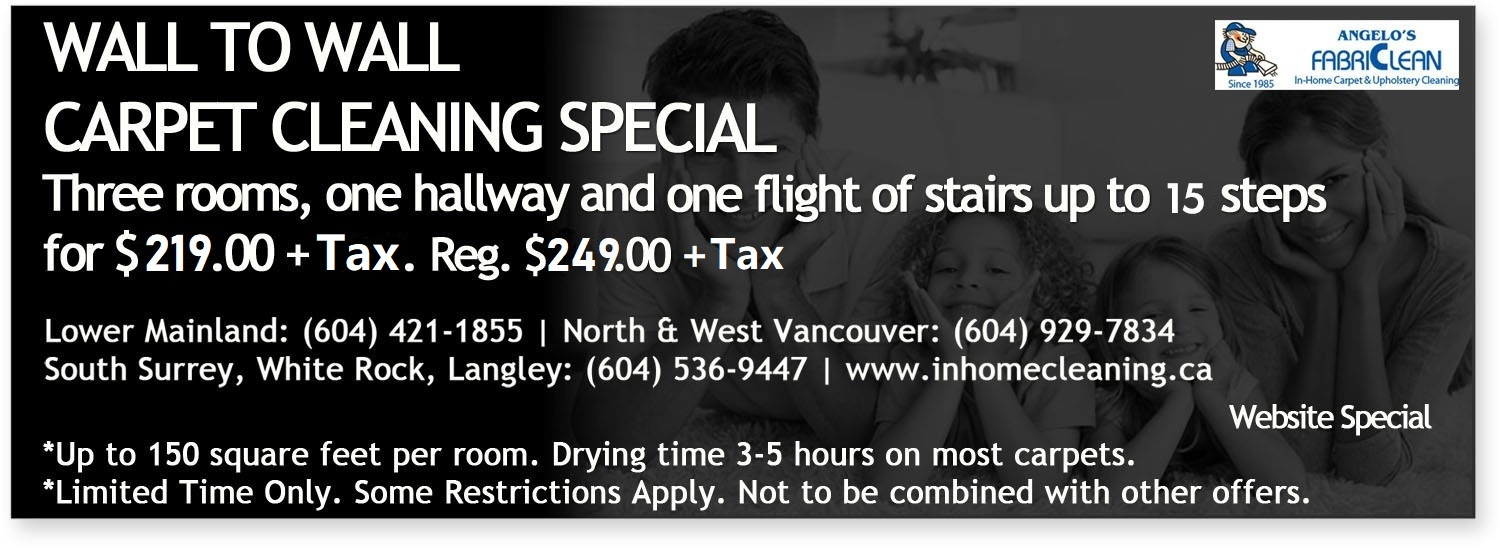 Carpet Cleaning Vancouver Deals Carpet Cleaning Coupons